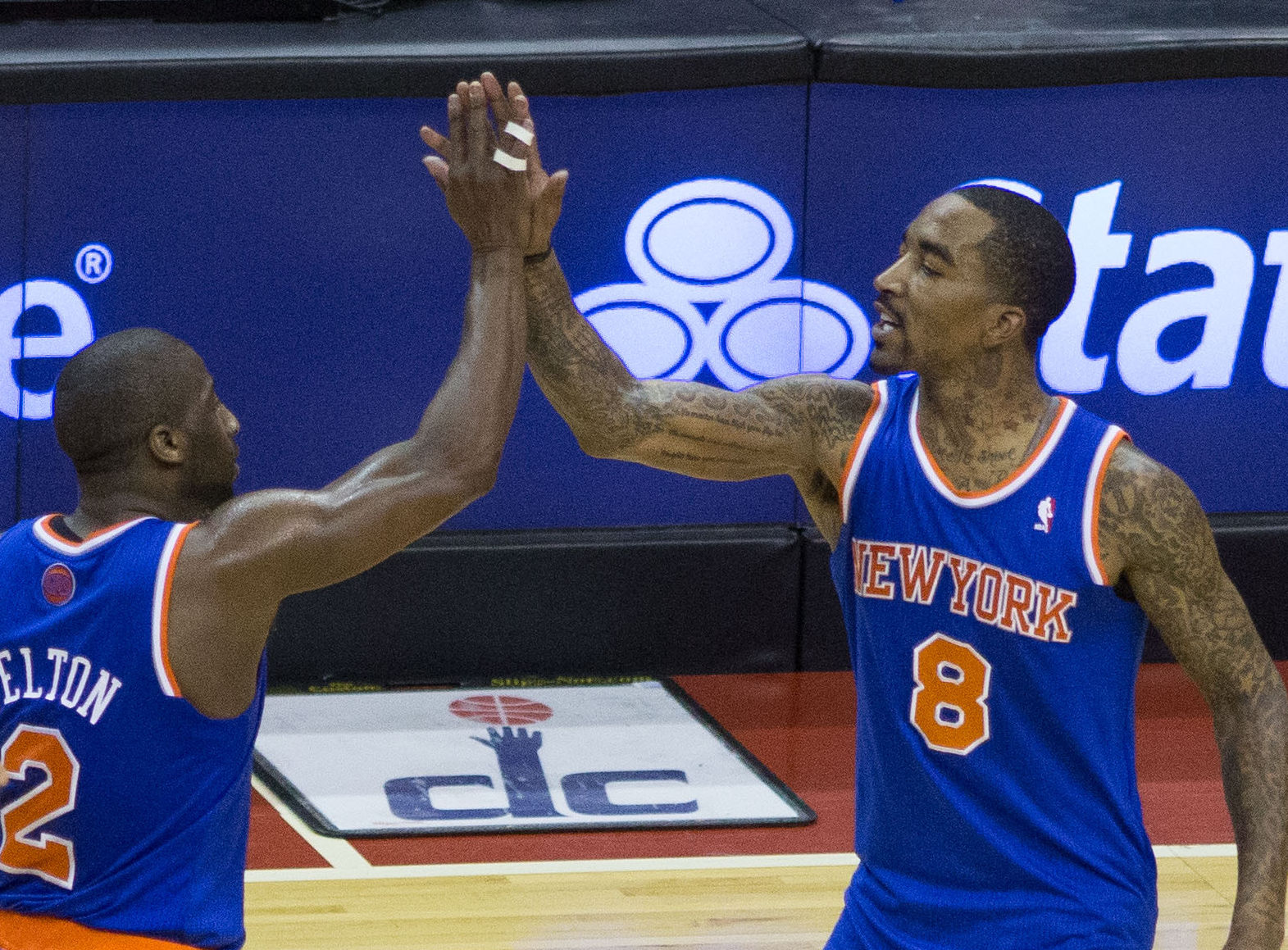 JR Smith and Raymond Felton