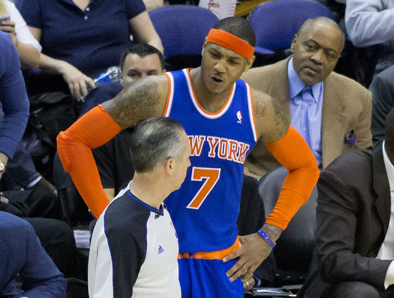 Carmelo Anthony Arguing a Call